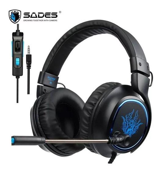 Headset Gamer 5.1 Usb P2 Ps4 Pc Xbox One Com Fio Sades R5 R5