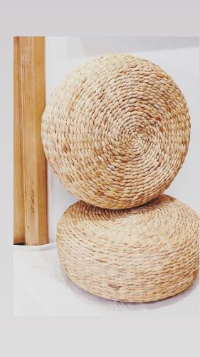 Pouf Fibra Natural De Seagrass. Redondo - Deco