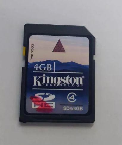 Cartão Memória Kingston - 4 Gb Sd4/4gbsdhc Lote 30 Unidades