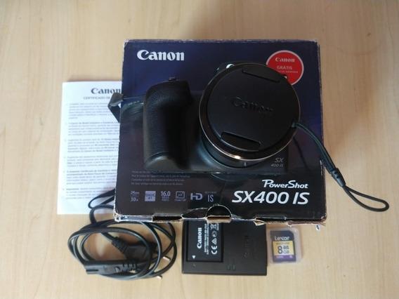 Camera Canon Sx400 Is Impecável Completa