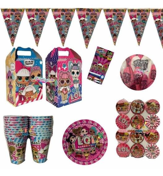 Lol Surprise Kit Fiestas 20 Niños Dulceros Globos Platos