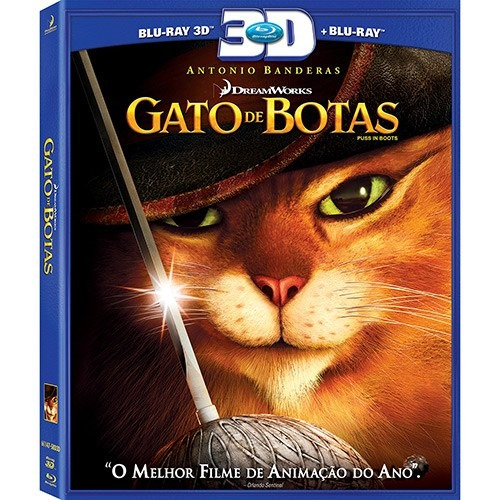 Blu-ray 3 D - O Gato De Botas - Blu-ray 3d + 2d