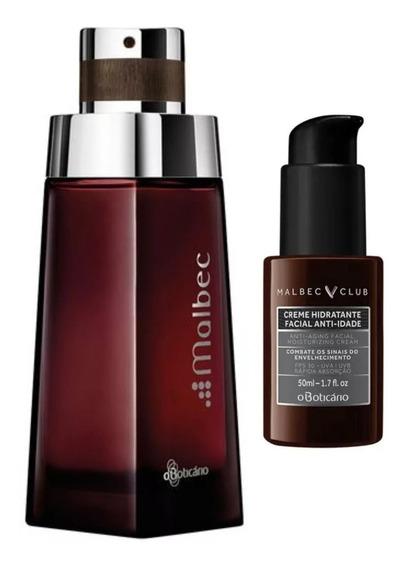 Perfume Malbec + Hidratante Facial Anti-idade 50ml Boticário