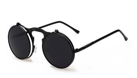 Óculos Sol Redondo Circular Vintage Lente Dupla Promoção