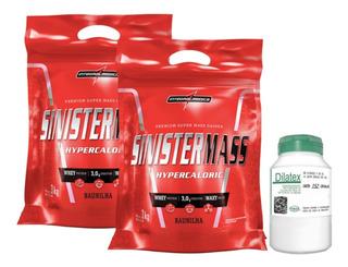 2x Hipercalóric Sinister Mass 3kg Integral + Dilatex 152 Cáp