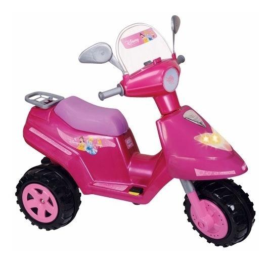 Moto Scooter Nena A Bateria Princesas Disney Biemme 6 Volt