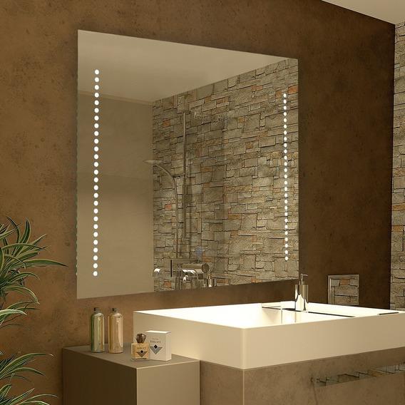 Espejo 1 Con Luz Led Touch 28w Deco Baño Moderno 80x60 Cm
