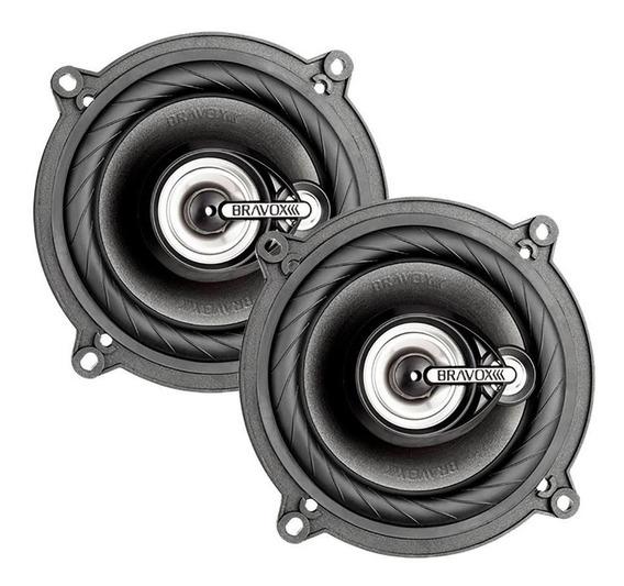 Kit Alto-falantes Bravox Tr55 Vw1 5 Polegadas Triaxial