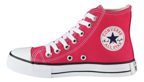 Tenis Converse All Star Ct Core Hi Bota Rosa Choque