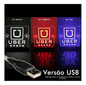 Luminoso Placa Uber | Cabify | 99 Pop Led Acrílico Usb