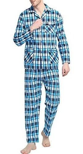 Conjunto De Pijamas Para Hombre, Pijama De Franela Suave Y L