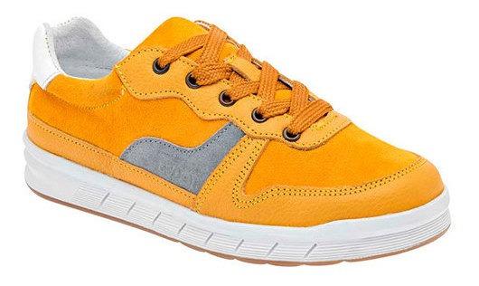 Sneaker Urbano Hombre Dogi Amarillo Piel J02409 Udt