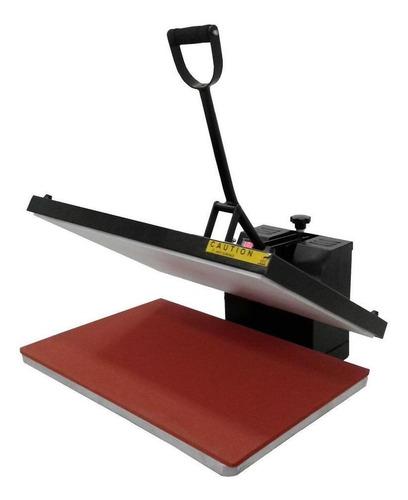 Prensa sublimadora e transfer Deko Flat Thermal Press 38x38 preta 220V