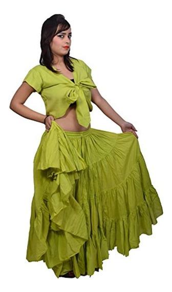 Wevez Plus Size 40 Pulgadas Falda Larga Tribal