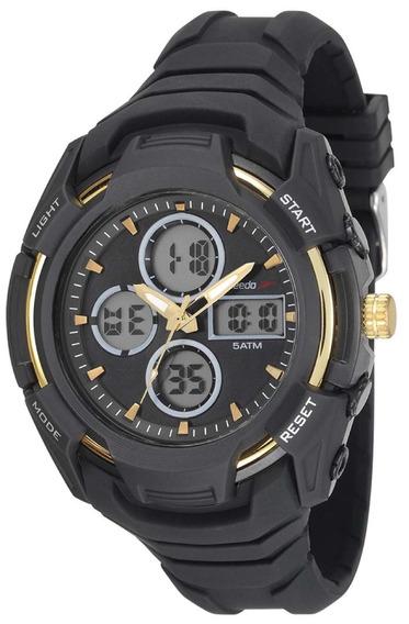Relógio Masculino Speedo 81166g0evnv1 Borracha Preta