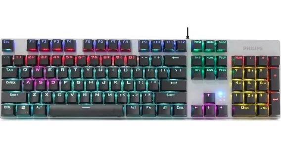 Teclado Gamer Mecânico Philips Spk8404 Switch Usb Luminoso