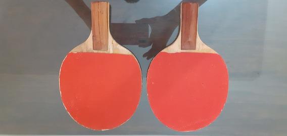 Raquetas De Pin Pon Usadas En Excelentes Condiciones.