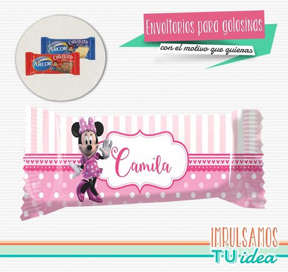 Minnie - Envoltorio Chocolatín Minnie Para Imprimir