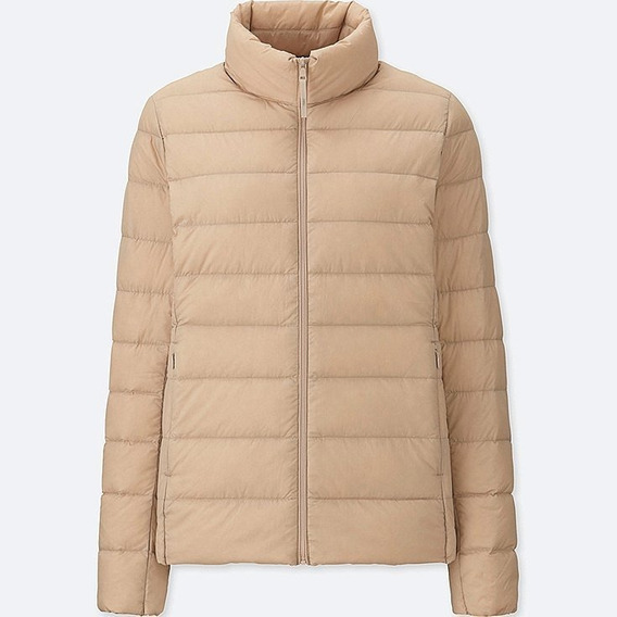 Uniqlo Ultra Light Down Jacket Mujer Crema Xxl Nueva
