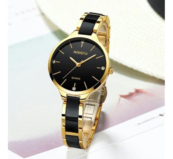 Relógio Nibosi 2330 Feminino Fashion Casual À Prova D