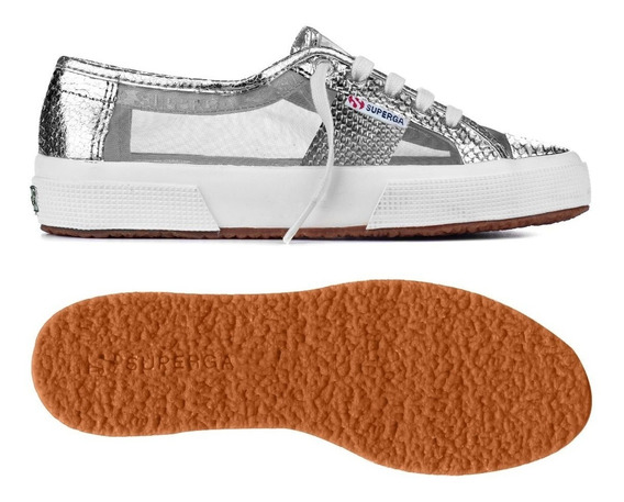 Zapatillas Superga - 2750 Animalmetnetw - Grey Silver