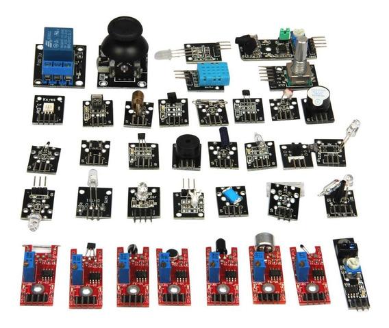 Kit Arduino 37 Sensores Pic Rasp Berry Excelente Qualidade