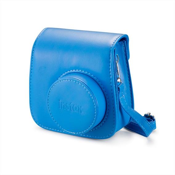 Bolsa De Couro Instax Mini 9 Azul Cobalto (original)