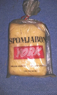Antigua Spomjabon York - Raro!! Sponja Con Jabon Dentro