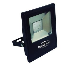 Refletor Slim Led Preto Blumenau 30w 6000k Kit C/05peças