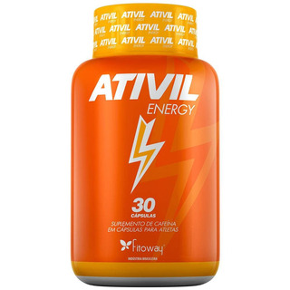 Energia Ativada Ativil Energy Cafeina 105mg 30 Cápsulas