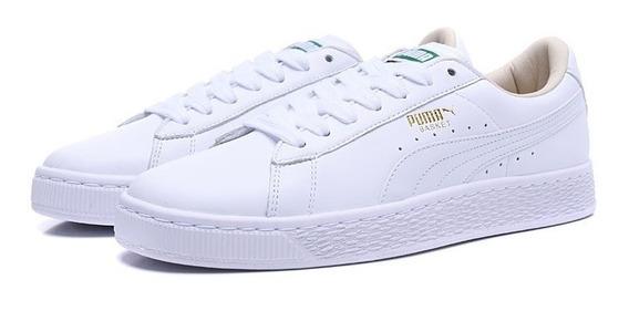 Tênis Puma Importado Original White Basket Plataform L