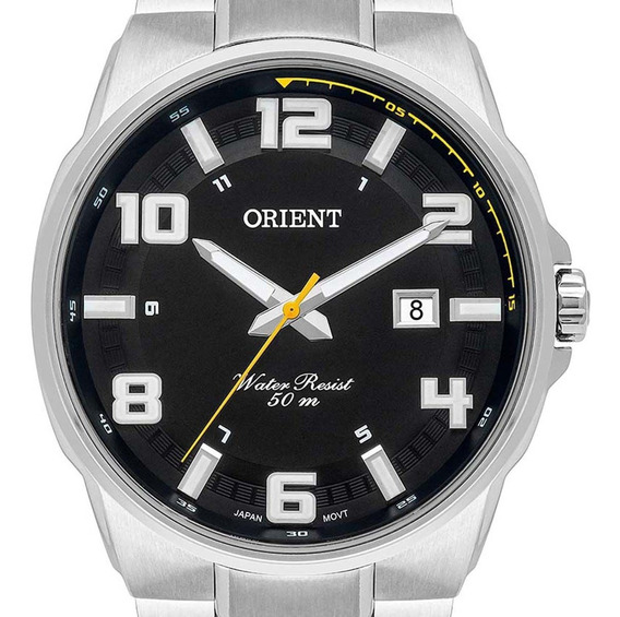 Relógio Orient Masculino Prateado Mbss1366 P2sx + Nota