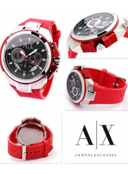 Relógio Armani Exchange Ax1040 Vermelho | 1 Mês De Uso