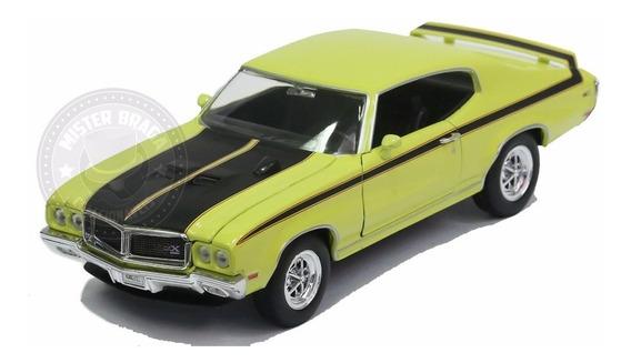 Miniatura Buick Gsx 1970 Amarelo 1/24 Welly