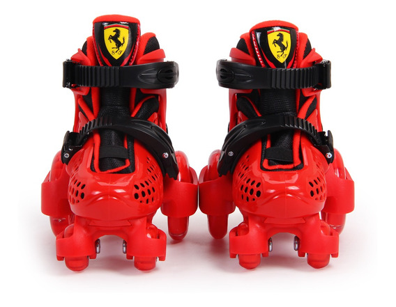 Patines Para Niños Ferrari Fk10 Talle Extensible Casco Prote