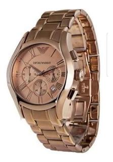 Reloj Armani Ar0365 Gold Rose Original.