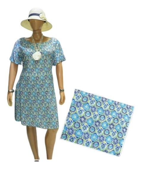 Vestido Fibrana Con Bolsillos T 4,6 , 8 Y 10