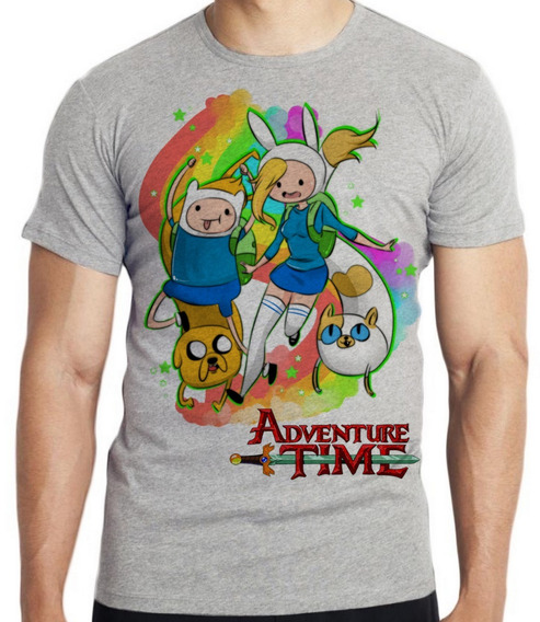 Camiseta Luxo Adventure Time Finn Jake E Meninas Aventura