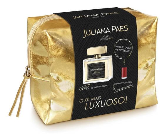 Kit Juliana Paes Deluxe Deo Parfum 100ml Esmalte Necessaire