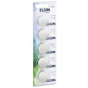Bateria Elgin Cr2032 3v Litio Energy Cartela 5 Unidades Nfe