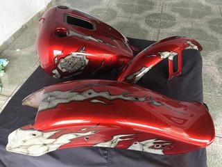 Kit Tanque E Pára-lamas Harley Davidson Softail Fx Stdi 2005