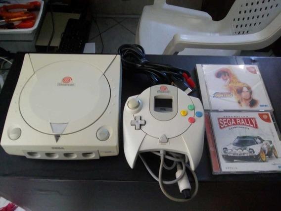 Dreamcast Com Controle E Jogos