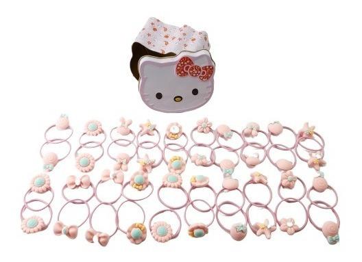 40 Ligas Para El Cabello De Niña En Caja Hello Kitty