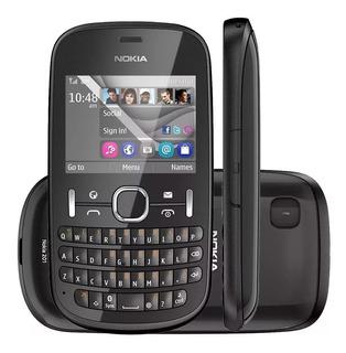 P/retirada De Peças Celular Nokia Asha 201 Preto E Branco