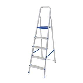 Escada Doméstica De Alumínio 5 Degraus Dobrável Mor