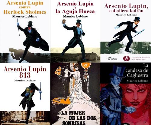 Saga Libros Arsenio Lupin Completa - Maurice Leblanc