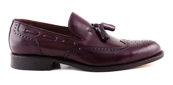 Zapato Clasico Cuero Hombre Briganti Picado - Hccz01067