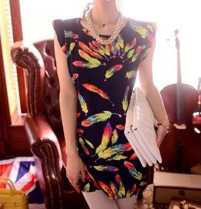 Vestido Vintage Com Cinto Importado Pronta Entrega