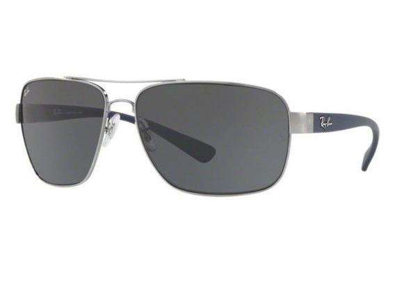 Oculos De Sol Ray Ban Rb3567 041 87 66mm Grafite Lente Cinza
