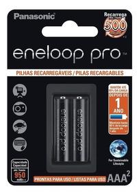 Pilha Panasonic Recarregavel Eneloop Pro Aaa Bk-4hcde/2bb